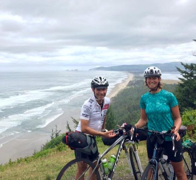 Jim & Megan enjoy a moment on the coast.